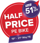 [Upcoming] Credr: Half Price Pe Bike@ Flat 51%*off.