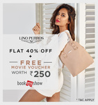 Flat 40% off on Lino Perros + Free Movie Voucher worth Rs.250