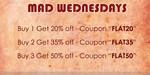 Hidekraft Mad Wednesdays: Buy 1 Get 20% Off | Buy 2 Get 35% | Buy 3 Get 50%