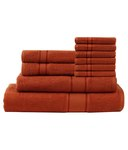 (64% off) Calico Touch Set of 10 Cotton Towels - Orange @ Rs.795 (MRP : Rs.2195)