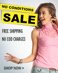 Offer on No condition Sale + Extra 15% off on Rs. 1500 & above (Site wide)