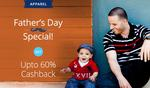 paytm ||| Fathers Day special upto 75% off + upto 60% cash back