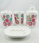 Buy Go Hooked Multicolor PVC 4-piece Bathroom Accessories Set (Model: G-600) For Rs.351