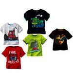 Kids Printed Tshirt Pure Hosiery Set Of-5 for Rs. 269 @ Shopclues