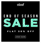 ABOF END OF SEASON SALE : Flat 50% off on apparels and accessories