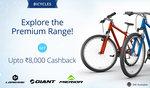 Paytm: Bicycles-Upto 8,000 Cashback