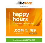 .com domains at rs. 69 at bigrock for today only between 2pm to 6pm