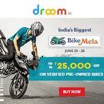 Bike Mela : Upto Rs.25000 off on Verified Pre-Owned Bikes  (Valid till 28th June)