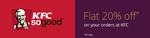 Flat 20% off on purchases made at KFC @ Air vistara
