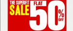 Flat 50% off on Mens Shirts