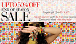 Upto 50% off + Free gift vouchers worth of Rs.850 from Zivame, Zoomcar. Printvenue & Others on every purchase