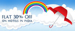 Get Flat 30% off on domestic hotels with No minimum booking value