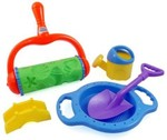 Liberty Imports Stars And Shells Sand Roller Beach Set For Kids