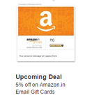 5% Off On Amazon.in E-mail Gift Card