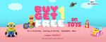 Buy 1 Get 1 FREE on Toys + 10% Paytm Cashback