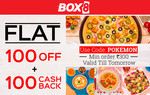 Flat Rs.100 off + Extra Rs.100 Cashback on order of Rs.300