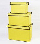 My Gift Booth Yellow Non-woven Storage Box