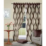 Vorhang Brown Jacquard Curtain Long door curtain
