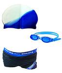 Buy Bodyfit Imported Swimming Goggles , Swim Cap , Swim Costume Set