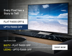 Flat Rs.4000 off on TV's