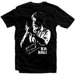 Kabali Rajnikant Black Cotton Tshirt For Men