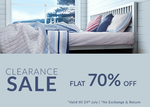 Get Flat 70% off clearance sale