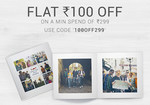 Get Rs 100 off on minimum order of Rs.299
