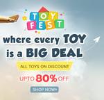 Get Upto 80% Off +  Extra 5% Paytm Cashback on Toy Fest
