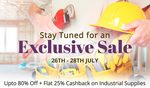 Upto 80% off + Flat 25% Cash Back on industrial-supplies