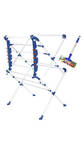 SBI Jumbo Cloth Drying Stand with Free Small Floor Wiper