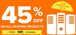 Get Flat 45% Off on Hosting + FREE .NET