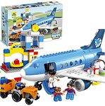 Toys BhoomiHappy City Airport Block Building Set - 69 Pieces