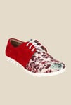 Niremo Red & White Casual Shoes
