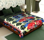 Story@Home Coral Collection Soft Printed Fleece Double Bed Blanket
