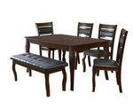 Larissa 1+ 4+ Bench Dining Kit - @home Nilkamal, coffee