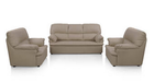 Comfort Couch Ivy Sofa Set Classic Leatherite - Mustard
