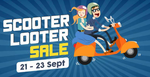 DROOM Scooter Looter Sale (Sep 21-23)  Up to Rs 10,000/- additional discount on used scooters online!
