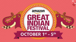 Get upto 20% Cashback during Amazon Great Indian Festival with HDFC Bank Debit Cards   01st – 05th Oct