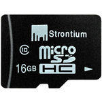 Strontium 16 GB MicroSD Card Class-10, 24MBps Memory Card low price