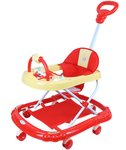 NOVICZ Baby Walker - Red Color - Foldable and Height Adjustable