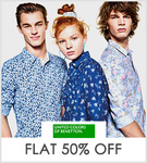 Flat 50% off on UCB mens apparels