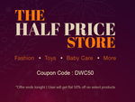 Get Flat 50% off on Fashion, Toys, Baby Care, School Supplies and more