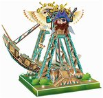 Saffire Swinging Ship 3D DIY Paper Jigsaw Puzzle With Light and Music