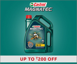 Get Up To Rs.200 Discount on Castrol Magnatec Engine Oils