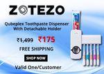 Qubeplex Toothpaste Dispenser With Detachable Holder
