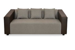@home by Nilkamal Brown Fabric Diana 3 Str 3 Seater Sofa