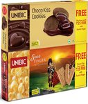 Unibic Scotch Finger, 100g with Free Choco Kiss, 60g