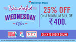 Flat 25% Off on Domino's orders above Rs.400