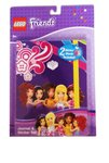Lego Friends Journal & Sticker Set With Purple Group Hug Under Pink Flowers Silhouette Cover
