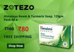 Himalaya Neem & Turmeric Soap - 125gm, Pack of 4